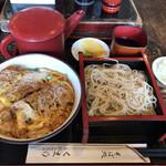 くま乃 - かつ丼+もりそば セット1,200円