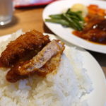 キッチン・ボン - ポークカツ・ライス(ライス大盛無料) 1400円