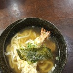 重乃井 - 天ぷらうどん並700円