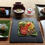 杉幸園 - 料理写真:9月の3500円コース料理です。写真のお料理に特別デザートセットが付き、大変お得です