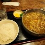 民芸そば処今井 - カレーそば定食 700円