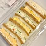 前田珈琲 - 玉子&ポテトサラダのサンドイッチ