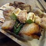 おでんせ三陸 - 料理写真:「豚バラ・ねぎ間・レバー」各1本150円也。税込。