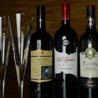 ◇厳選◇国産ワインから世界のワインまで豊富にご用意