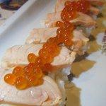笑笑 - サーモンの押し寿司
