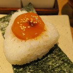 OMUSUBIぜん - 漬卵黄のおむすび