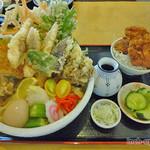 72570864 - さぬき天ぶっかけ(853円)一口ソースかつ丼(205円)