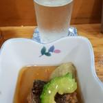味の店 スズラン - お通しと日本酒