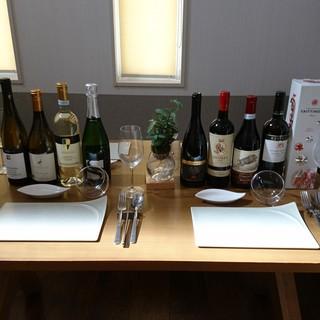 北イタリアを中心に約40種類のワインをご用意