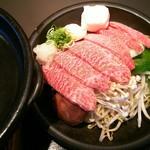 72575057 - 陶板焼定食の肉