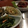 焼肉彩 - 料理写真:まず出てくるナムルの盛り合わせと、頼んだチャンジャ。頼むものは基本たっぷりの量(笑)