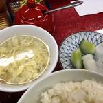 72578541 - 定食のスープ、漬物