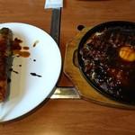 そらいえ - 肉々肉々玉(関西玉)+肉巻きおにぎり:1,450円+350円