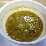 麺屋 がむしゃら - 〆はバッチリ温め直した割りスープで!