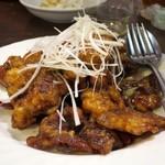 姜太公 - 揚げ豚肉の黒酢あんかけ