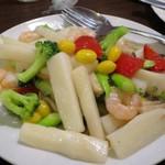 姜太公 - イカと小海老の炒め