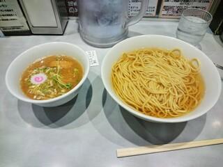 つけめん102 大宮店 - 鶏魚介(夜)のつけ麺大盛・あつもり(\840)