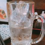 立ち呑み 粋 - 焼酎二杯目の量