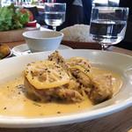 NAAK CAFE  - 本日のランチより  とりのレモンクリーム煮 サラダ、スープ、デザート、飲み物付きで1000円