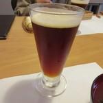 山里料理 葡萄屋 - 飲み物は地ビールの中をお願いして皆で乾杯、車の運転を心配しないで良いのは休日の特権です。