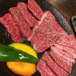 中込精肉店 - 料理写真:和牛特選赤身3点盛 ¥4300- 佐賀牛、量もあるし、美味い!