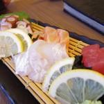 72587034 - 新鮮鮮魚の刺身盛り 5種盛り