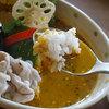 アプランティ - 料理写真:クリームチーズのスープカレー(牛・豚しゃぶ)1200円