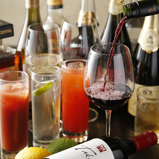 ◇豊富なワイン◇グラス580円~ボトル2600円~ご用意