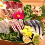 日本酒の魚枡 - 枡盛り