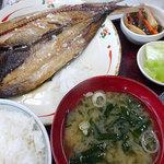 食事処 魚屋の台所 - 開きにしん600円+定食250円税別