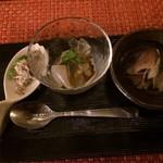 鉄板Diner JAKEN - 前菜三種盛り合わせ