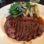 Red Rock - ステーキ定食大のお肉は2枚
