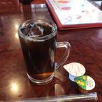 中国料理 水晶楼 - 食後サービスのアイスコーヒー