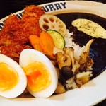 100時間カレー B&R - チキンカツ・野菜・ゆで卵・キノコ・チーズ!
