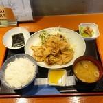 72607161 - 豚の生姜焼き定食850円
