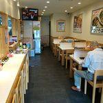 かくや - 蕎麦処 かくや 両国店 セルフ着座方式の店内