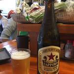 やきとん 赤尾 - 「瓶ビール (サッポロラガー)」530円
