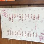 72616770 - 天ぷらメニュー