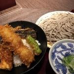 高田屋 - ☆天丼とごま蕎麦のセット 950円