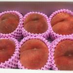 農家カフェ 森のガーデン - 次女へのお土産、「川中島白桃」です♫