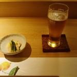 食・心 旬ぎく - 生ビールとお通し