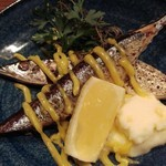 からふぇDINING - 秋刀魚のコンフィ  じゃが芋ピュレとアイオリ添え