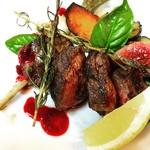 蝦夷鹿肉のロースト   ランチセット