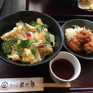讃岐屋 雅次郎 - 料理写真:老と揚げ餅のぶっかけ(冷)ヽ(・∀.・)¥980円