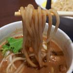 ガガナラーメン極×大阪ふぃがろ亭 - GAGANAホルモンつけ麺(880円)+大盛(クーポン)