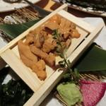 北の味紀行と地酒 北海道 - 『箱うに刺身』1,690円