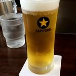 いきなり!ステーキ - 生ビール:500円税別