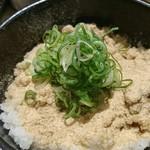 本町製麺所 阿倍野卸売工場 中華そば工房 - マグロ節粉末九条ネギゴハン♪