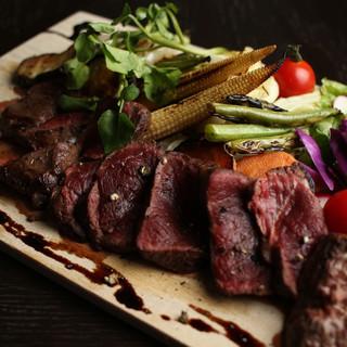 エゾシカのステーキ&焼き野菜