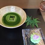 茶房一笑 - 冷抹茶セット(1080円)